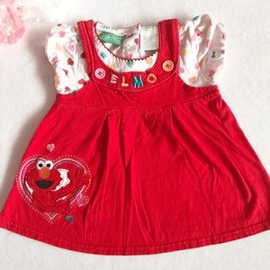 Sesame Street Elmo Toddler Girls Top Size 3T